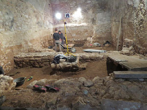 Excavacions a l'Hospital dels Capellans o dels Clergues
